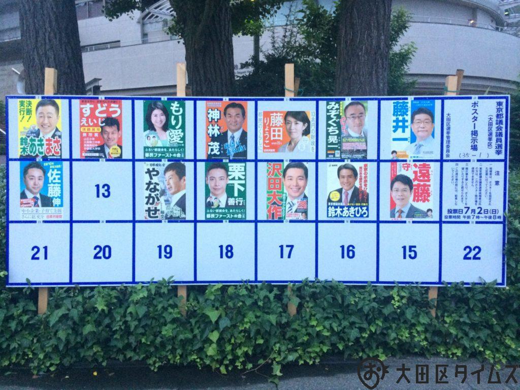 大田区の都議選・各候補者と予想【2017年】